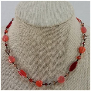 Multi Shapes and Colors Beaded Necklace
